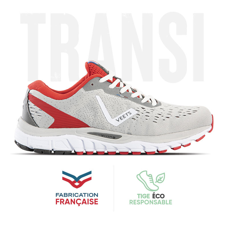 Chaussure running homme Transition MIF 3 gris-rouge